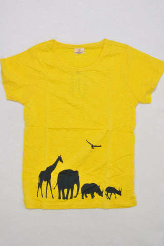 New Yellow Safari Scene T-shirt Unisex 6-7 years