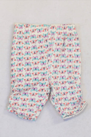 Ackermans Beige Butterfly Shorts Girls 3-6 months