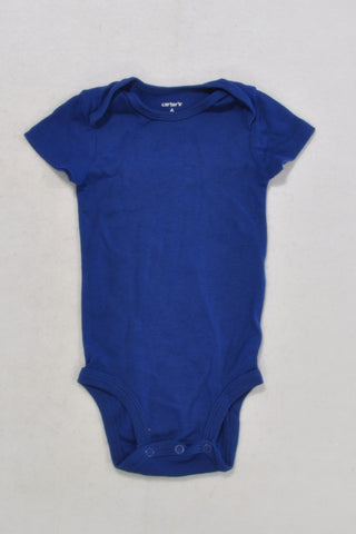 Carters Blue Baby Grow Boys 3-6 months