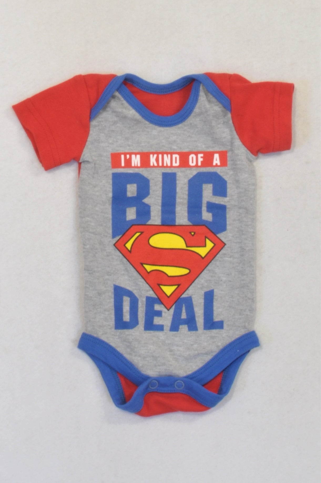 Little Legend Red & Grey Kind Of A Big Deal Baby Grow Boys N-B