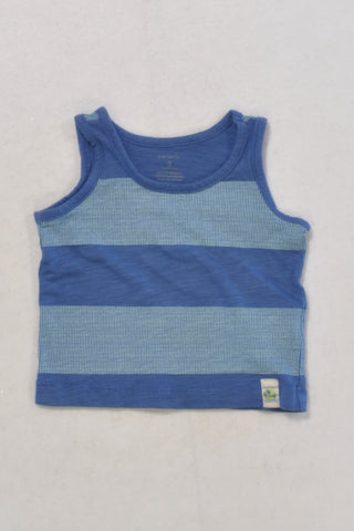 Carters Blue Panel Vest T-shirt Boys 0-3 months