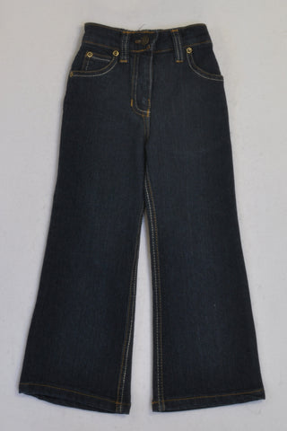 Lil 'Chic' Dark Denim Stretch Flare Jeans Girls 2-3 years