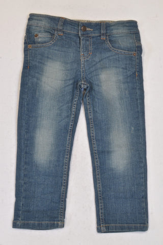 New Sticky Fudge Distressed Classic Jeans Boys 3-4 years