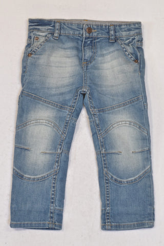 New Sticky Fudge Knee Detail Tailored Jeans Boys 6-12 months