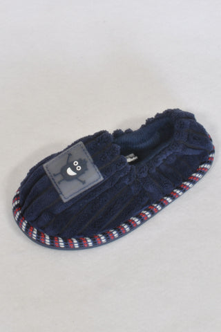 New Mr.Price Navy Fleece Size 7 Bug Slippers Boys 2-3 years