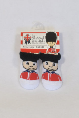 New Traditional Craft Ltd. Great British Queen's Guard Socks Unisex 0-6 months