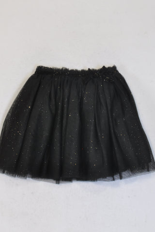 New H&M Black Glitter Tutu Skirt Girls 4-5 years