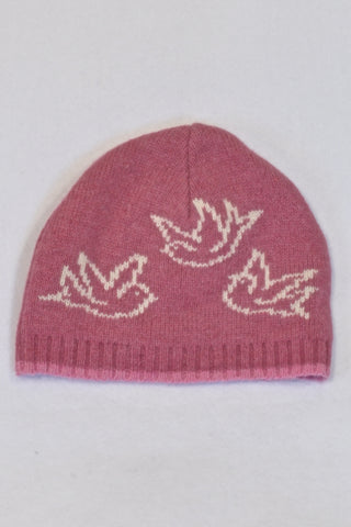 New Monsoon Pink Bird Beanie Girls 1-3 years