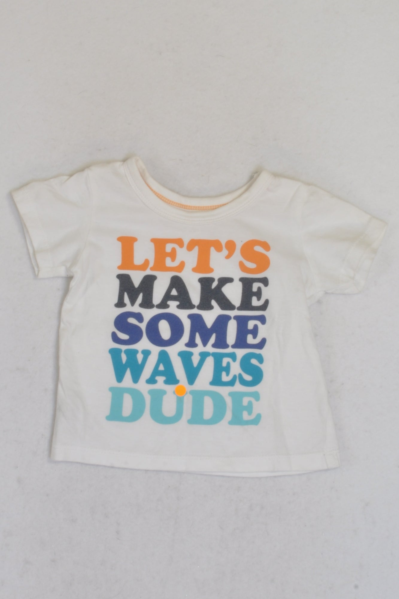 Woolworths Lets Make Some Waves Dude T-shirt Boys 3-6 months