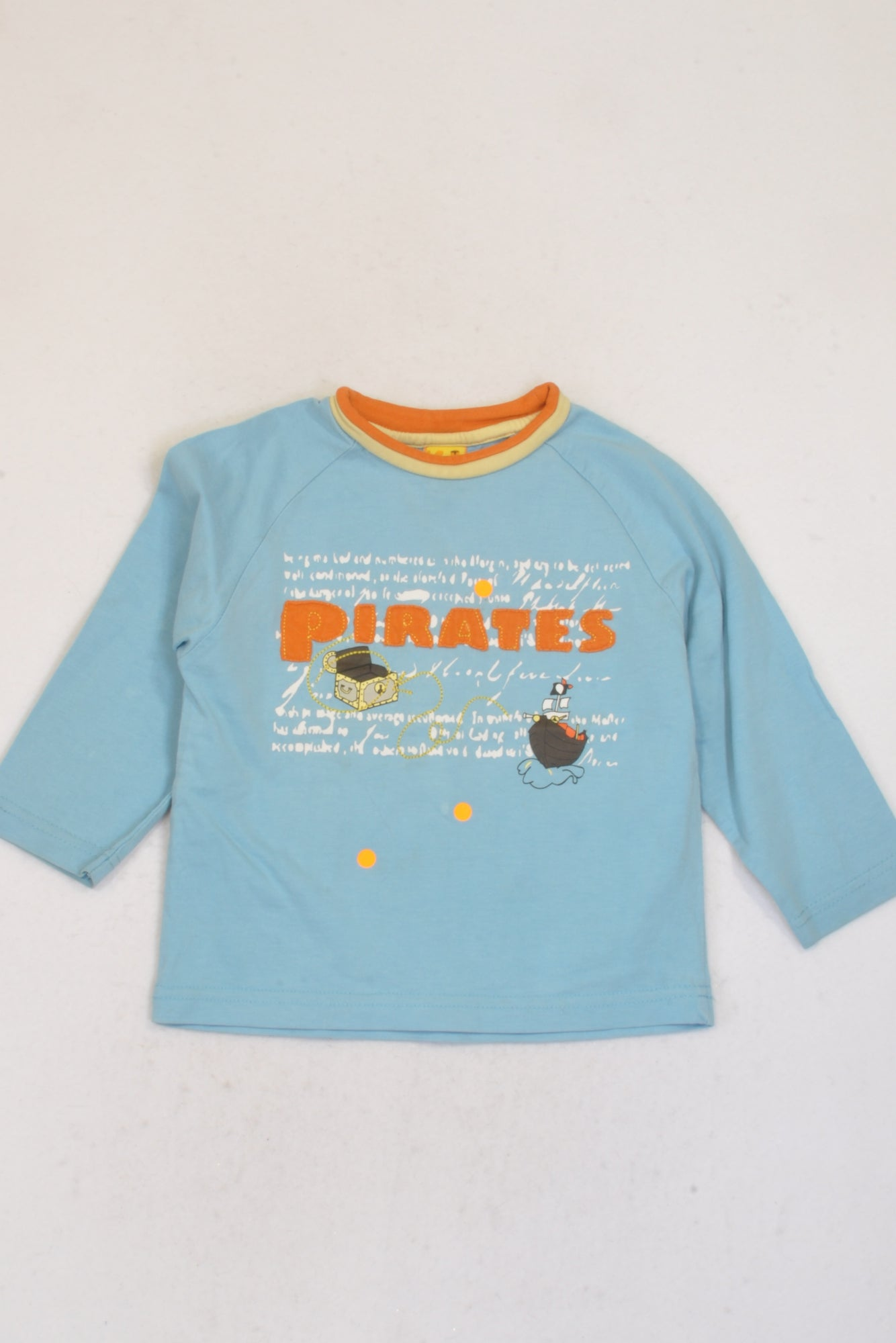 M.Mondo Soft Blue Pirates T-shirt Boys 1-2 years