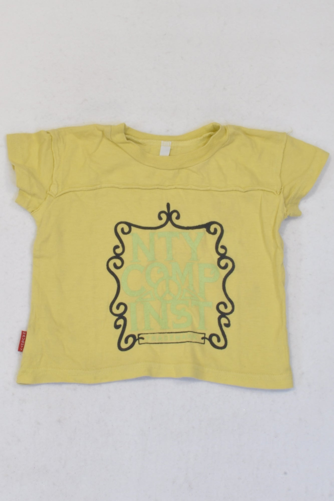 NTY Yellow Trademark T-shirt Boys 6-12 months