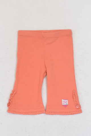 New Naartjie Orange Wide Leg Pants Girls 0-3 months