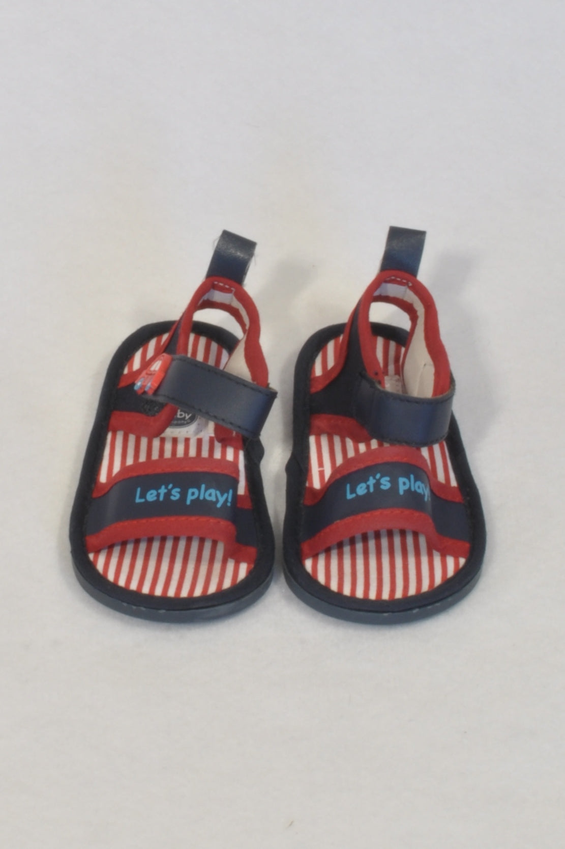 Ackermans Red & Navy Let's Play Size 2 Sandals Boys 6-9 months