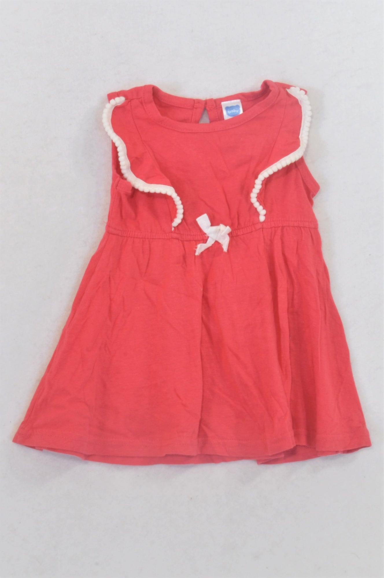 Ackermans Cerise Bauble Detail Dress Girls 3-6 months