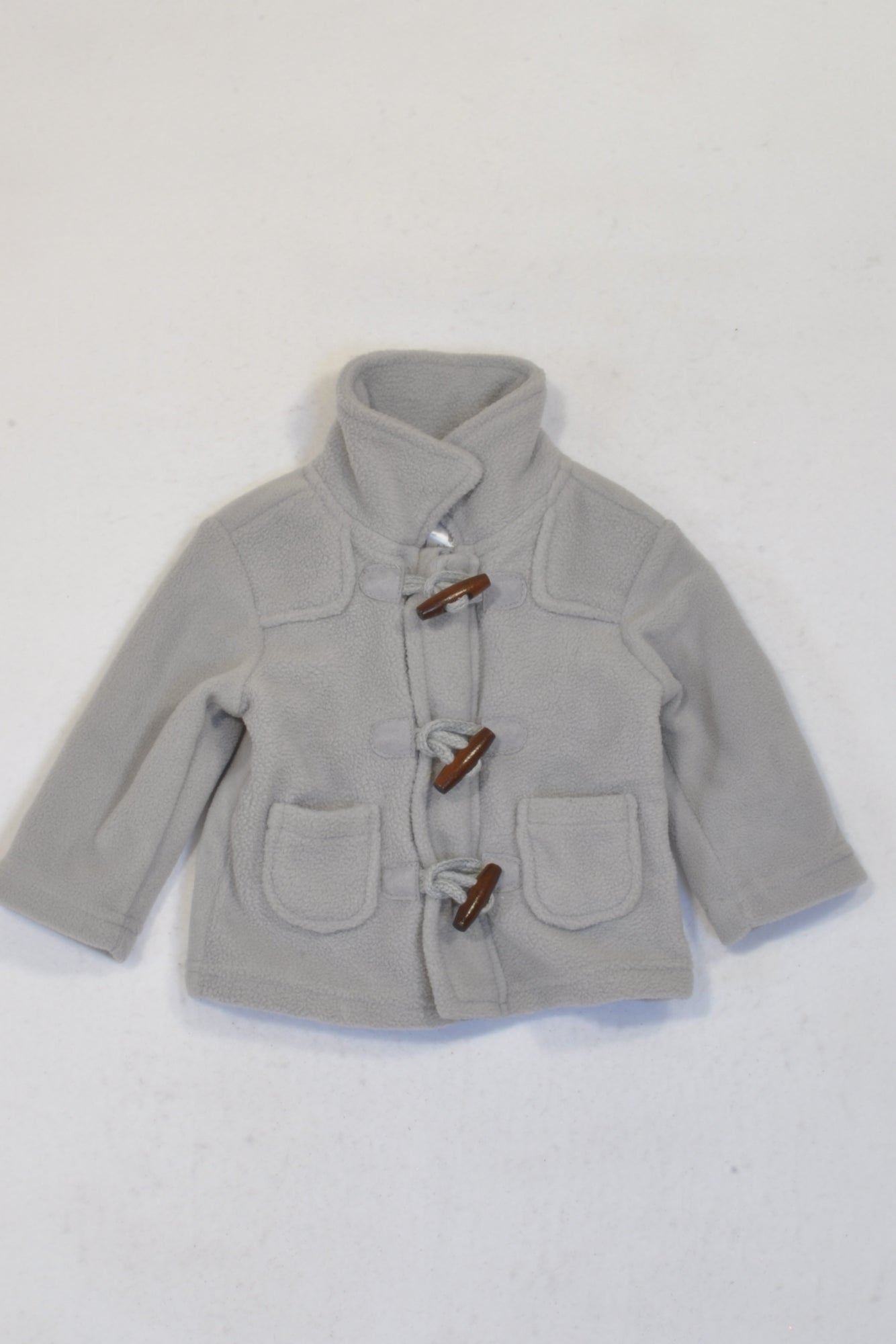 New Clicks Grey Toggle Jacket Unisex 0-3 months