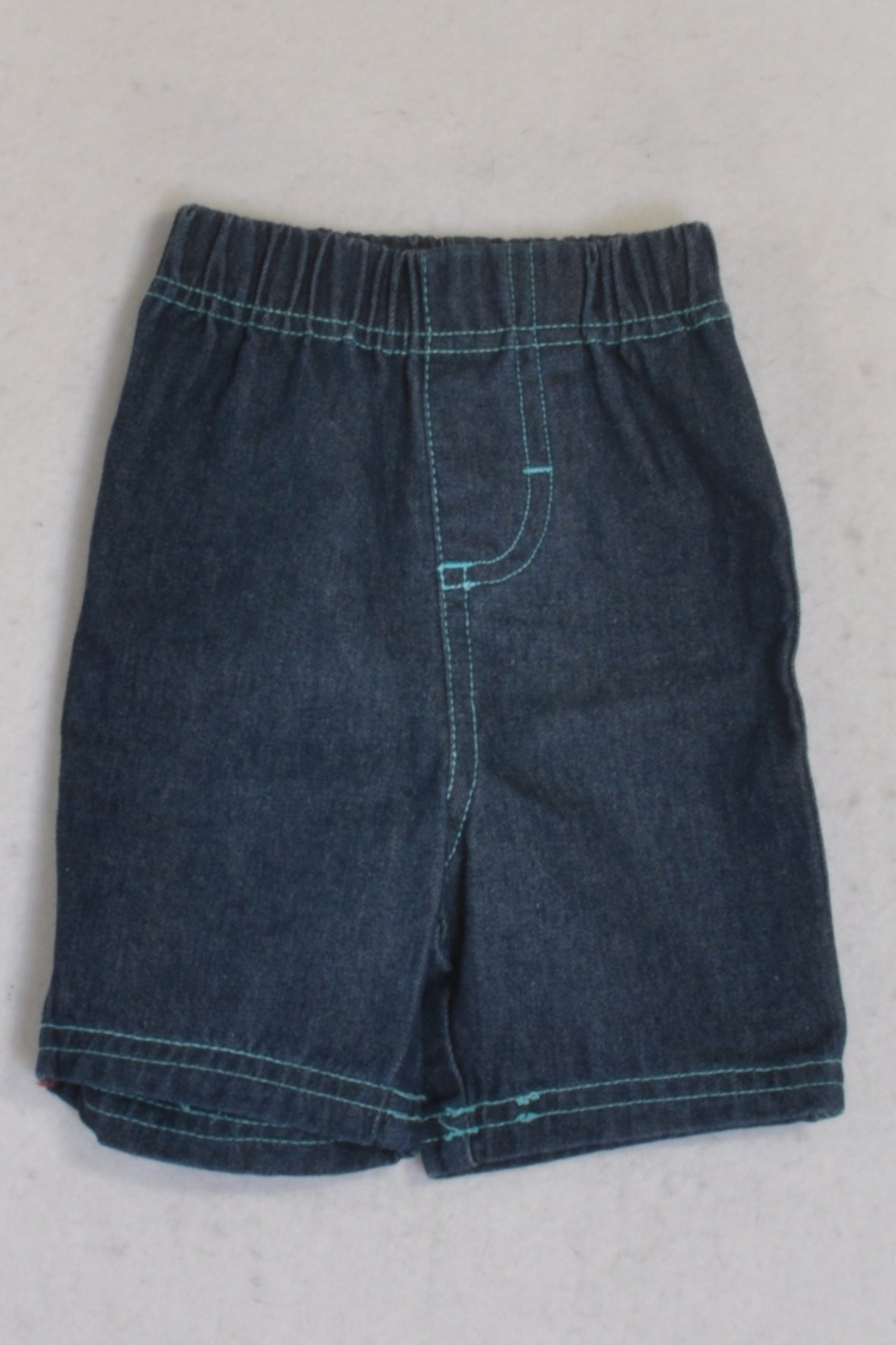 Ackermans Denim Jean Shorts Boys 3-6 months