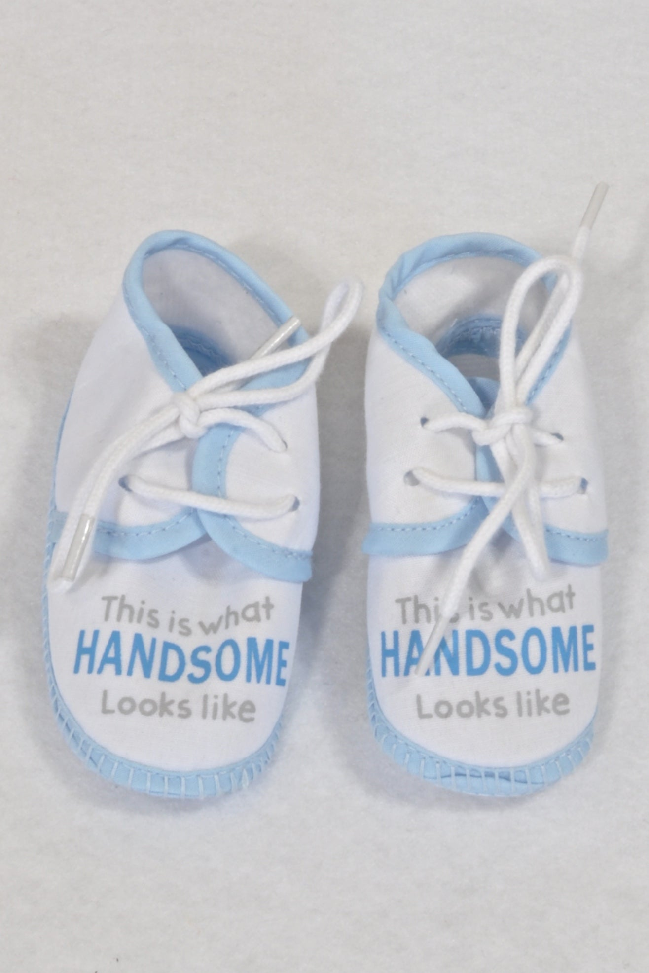 New White & Blue Handsome Shoes Boys N-B
