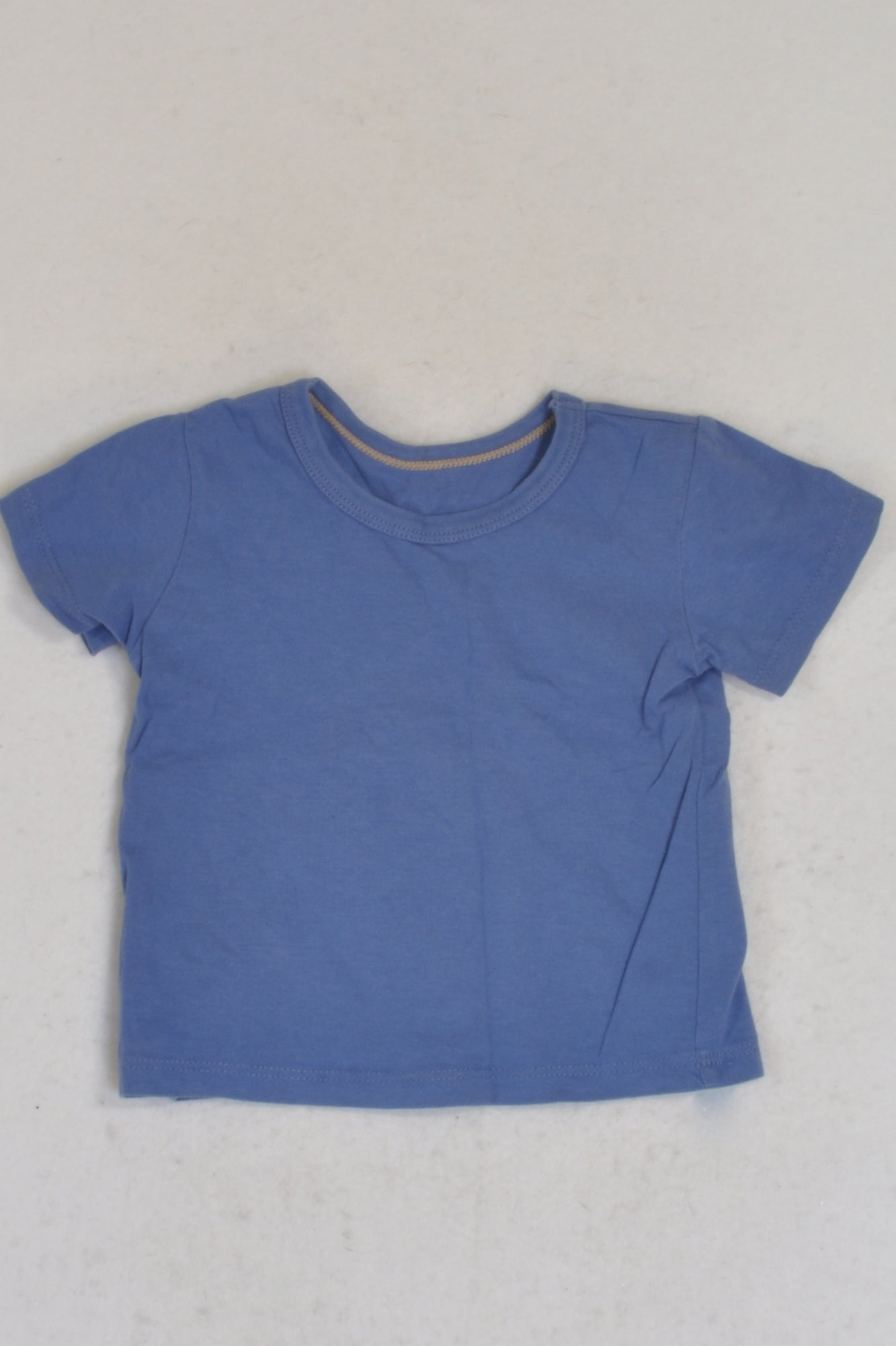 Woolworths Basic Blue T-shirt Boys 3-6 months