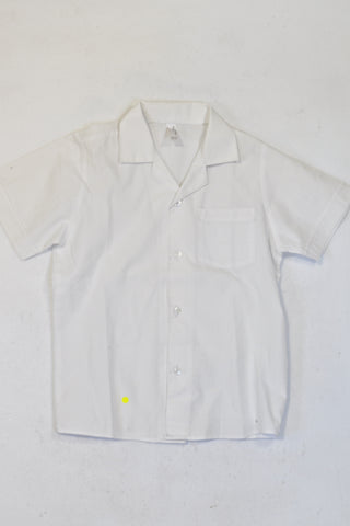 Woolworths Basic White Short Sleeve Collar Shirt 2 of 2 Boys 6-7 years