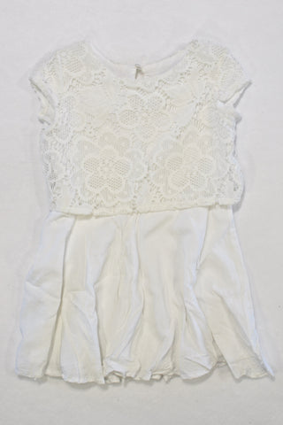 New Woolies White Lacey Dress Girls 3-4 years