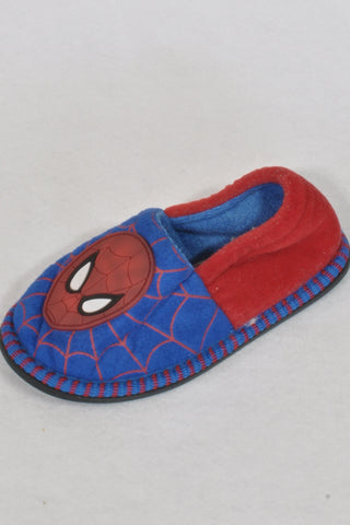 Marvel Blue & Red Spiderman Size 8 Slippers Boys 2-3 years