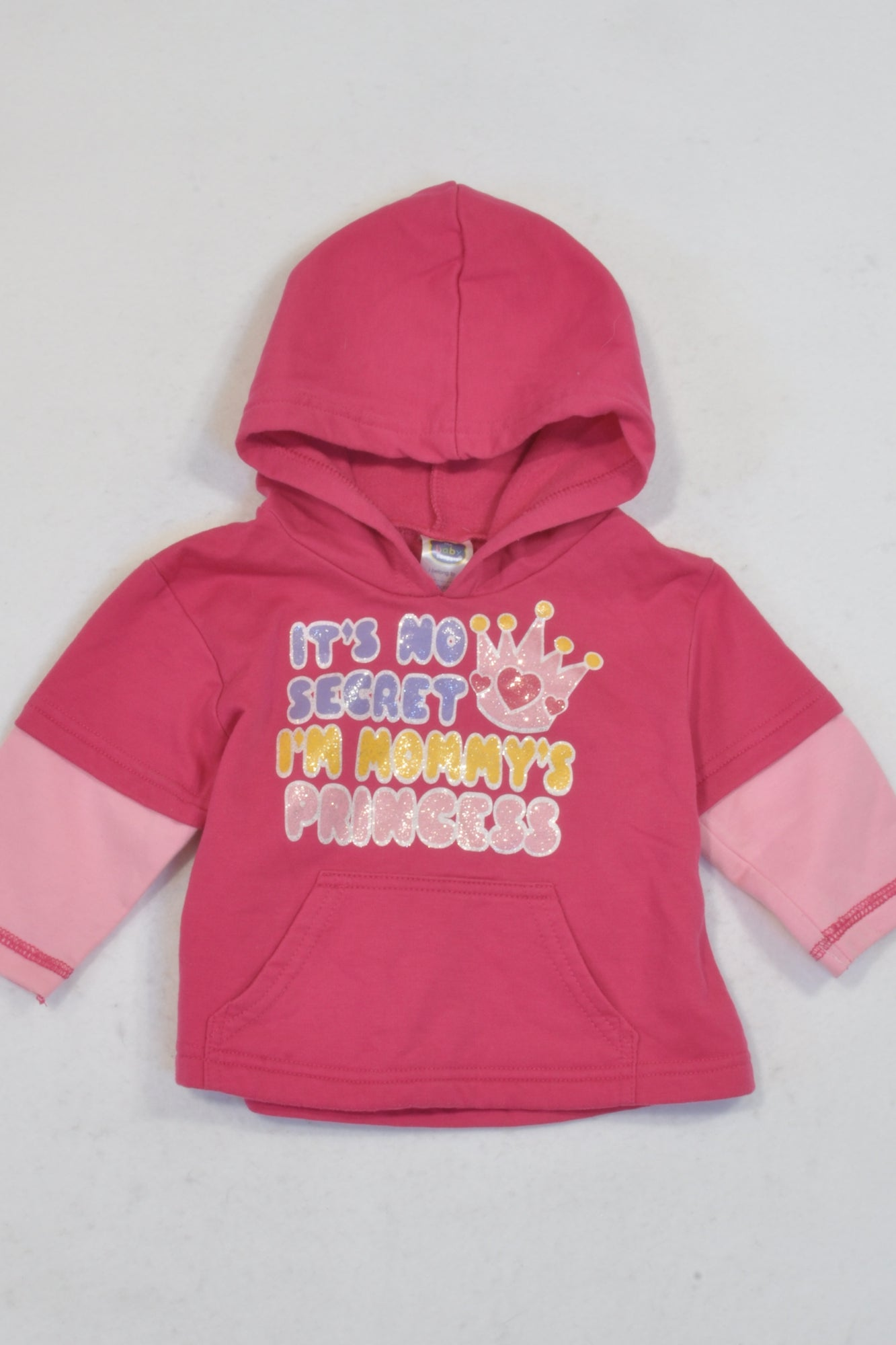 Ackermans Cerise Mommy's Princess Hoodie Girls 3-6 months