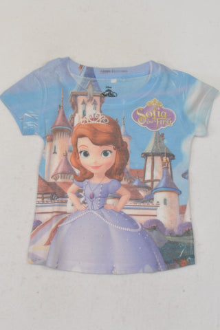 Disney Blue Sofia The First T-shirt Girls 3-4 years