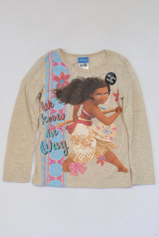 New Edgars Beige Moana We Know the Way T-shirt Girls 5-6 years