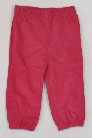 New Jet Cerise Pink Corduroy Pants Girls 12-18 months