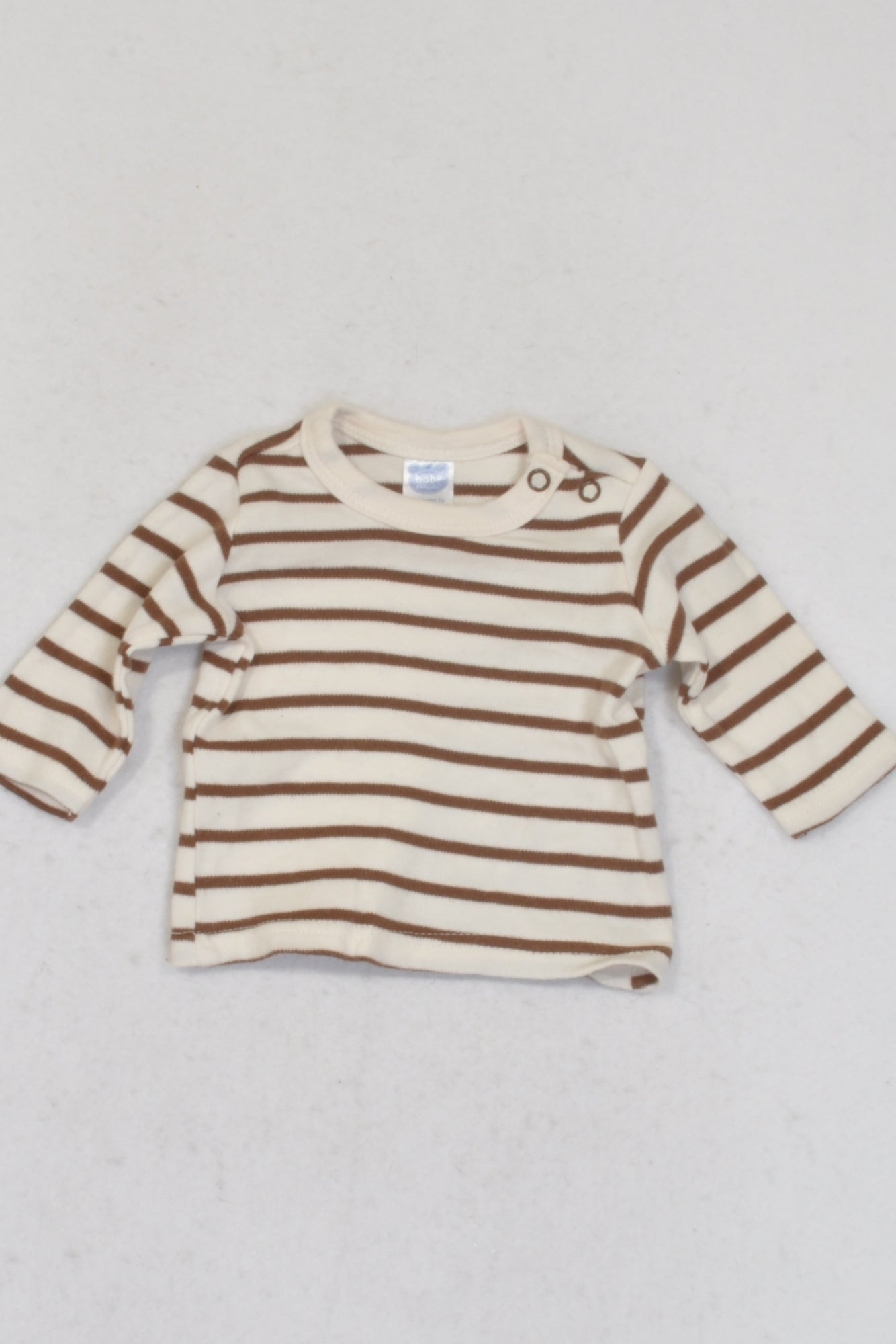 Ackermans Brown & Off White Striped T-shirt Boys N-B