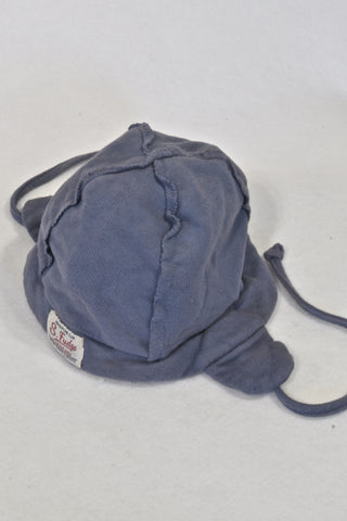 Sticky-Fudge Navy Ear Warmer Beanie Boys 6-12 months
