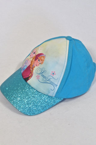 Disney Blue Glitter Frozen Hat Girls 9-10 years