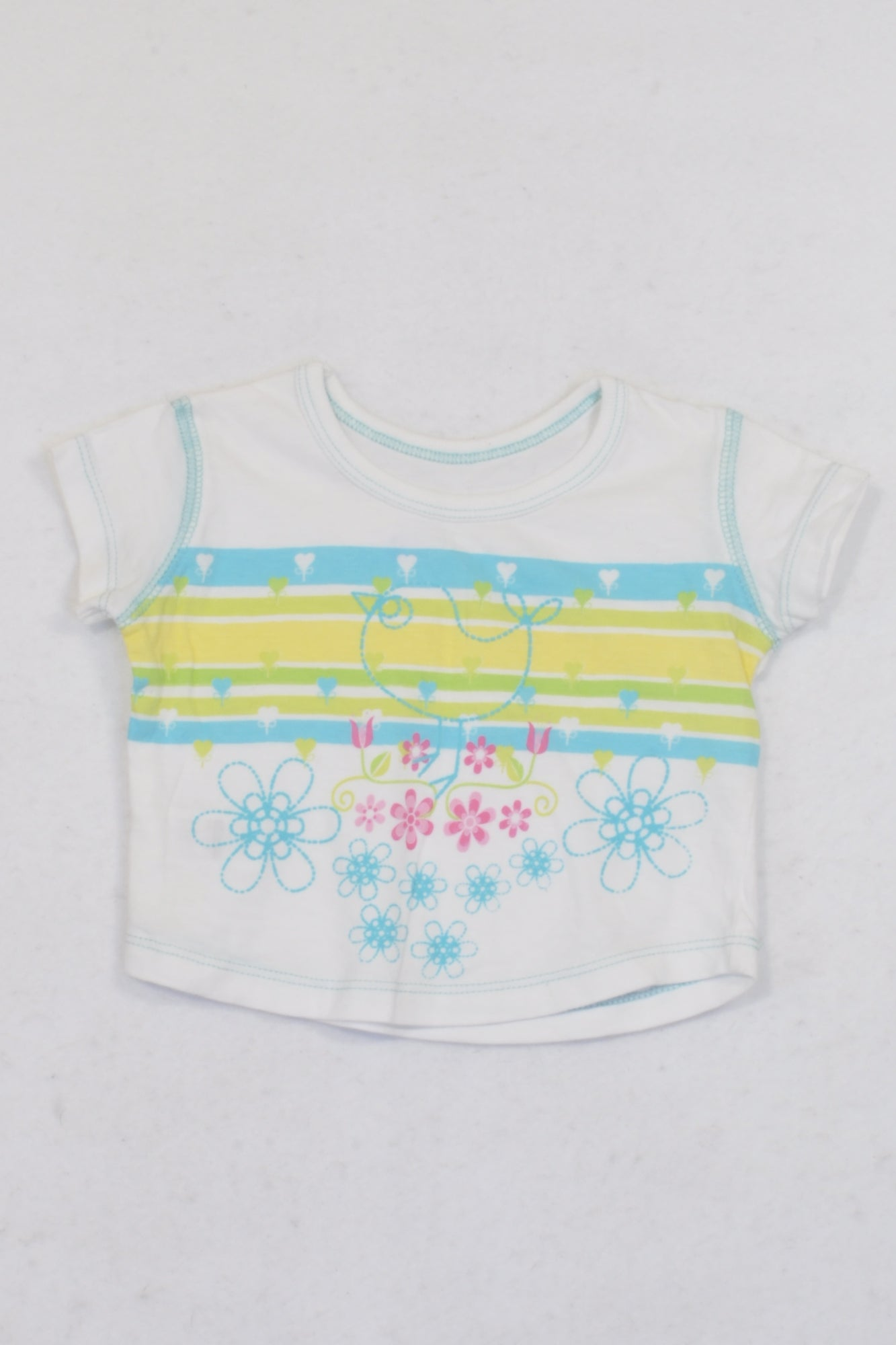 Woolworths White Tweety Bird T-shirt Girls 3-6 months