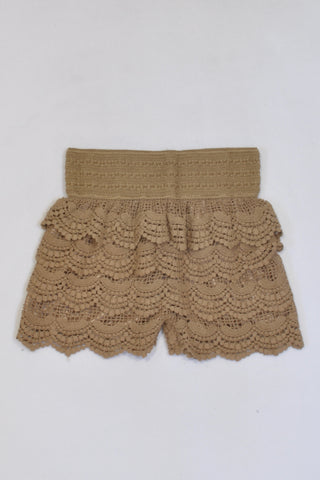 New I Dress Caramel Tiered Lace Shorts Girls 6-8 years