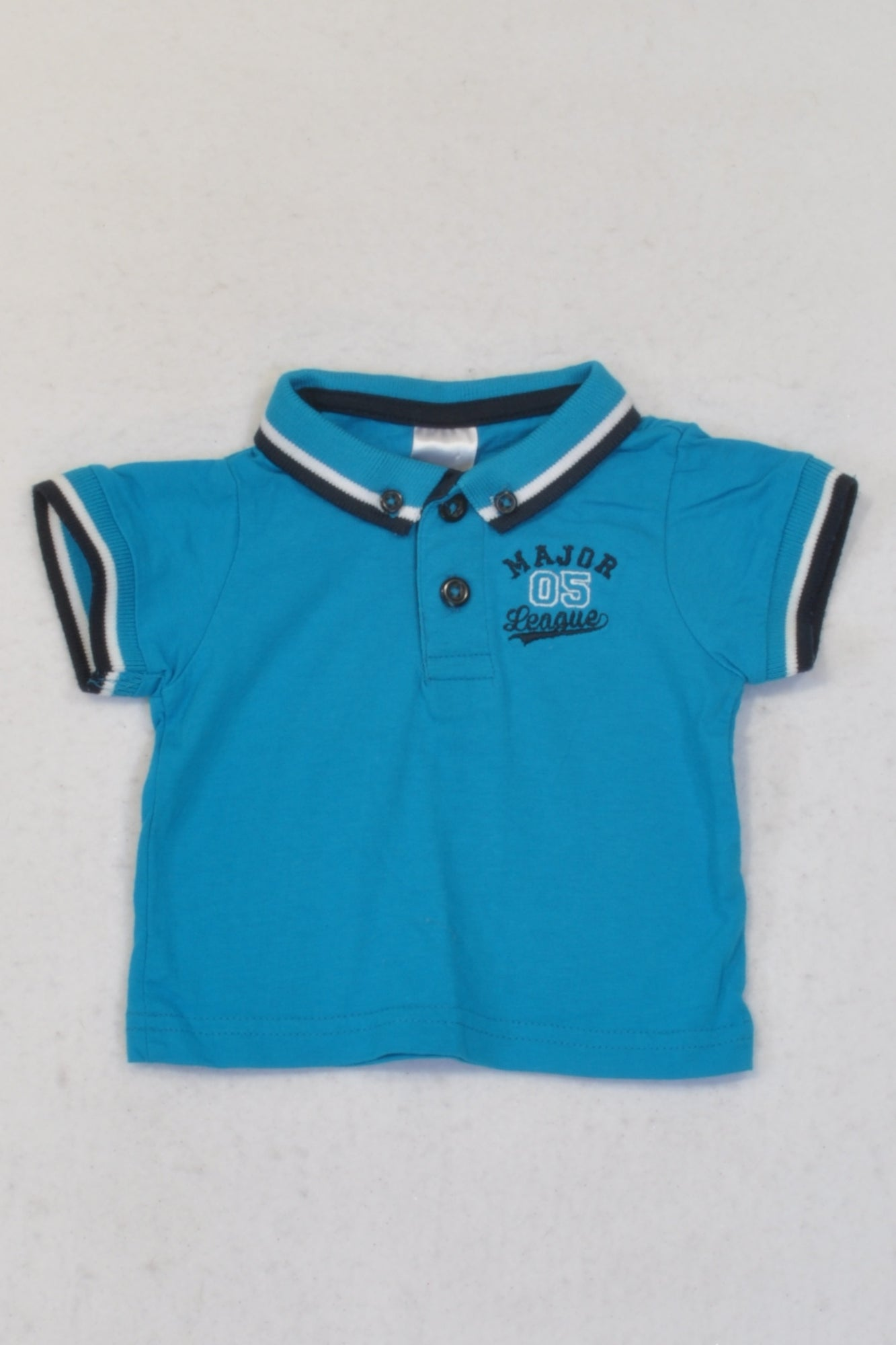 Edgars Blue & Black Trim Golf T-shirt Boys 0-3 months