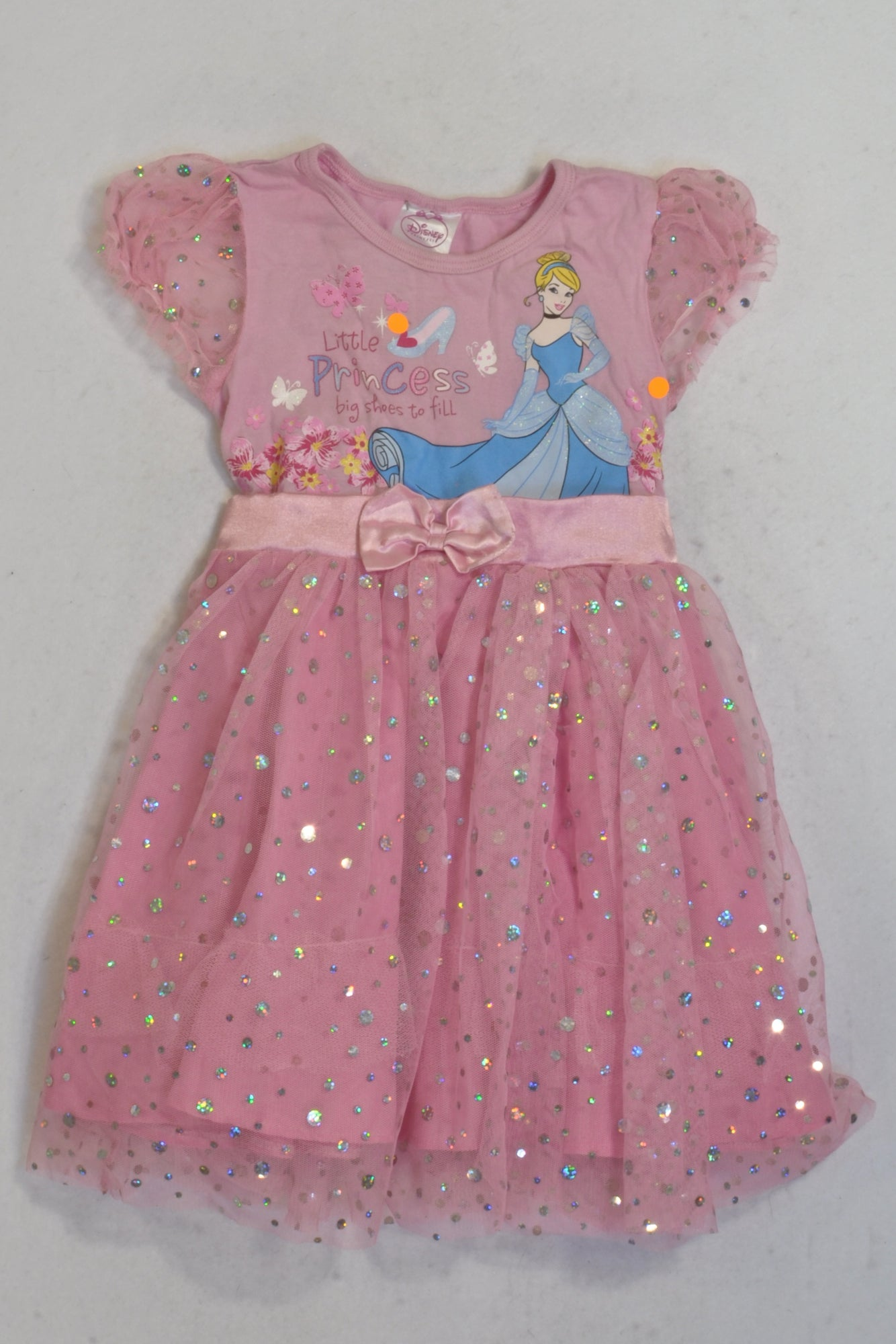 Edgars Pink Sequin Tulle Princess Dress Girls 18-24 months