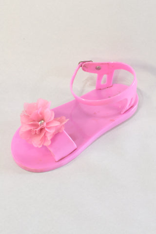 Pink Jelly Sandals Girls 3-4 years