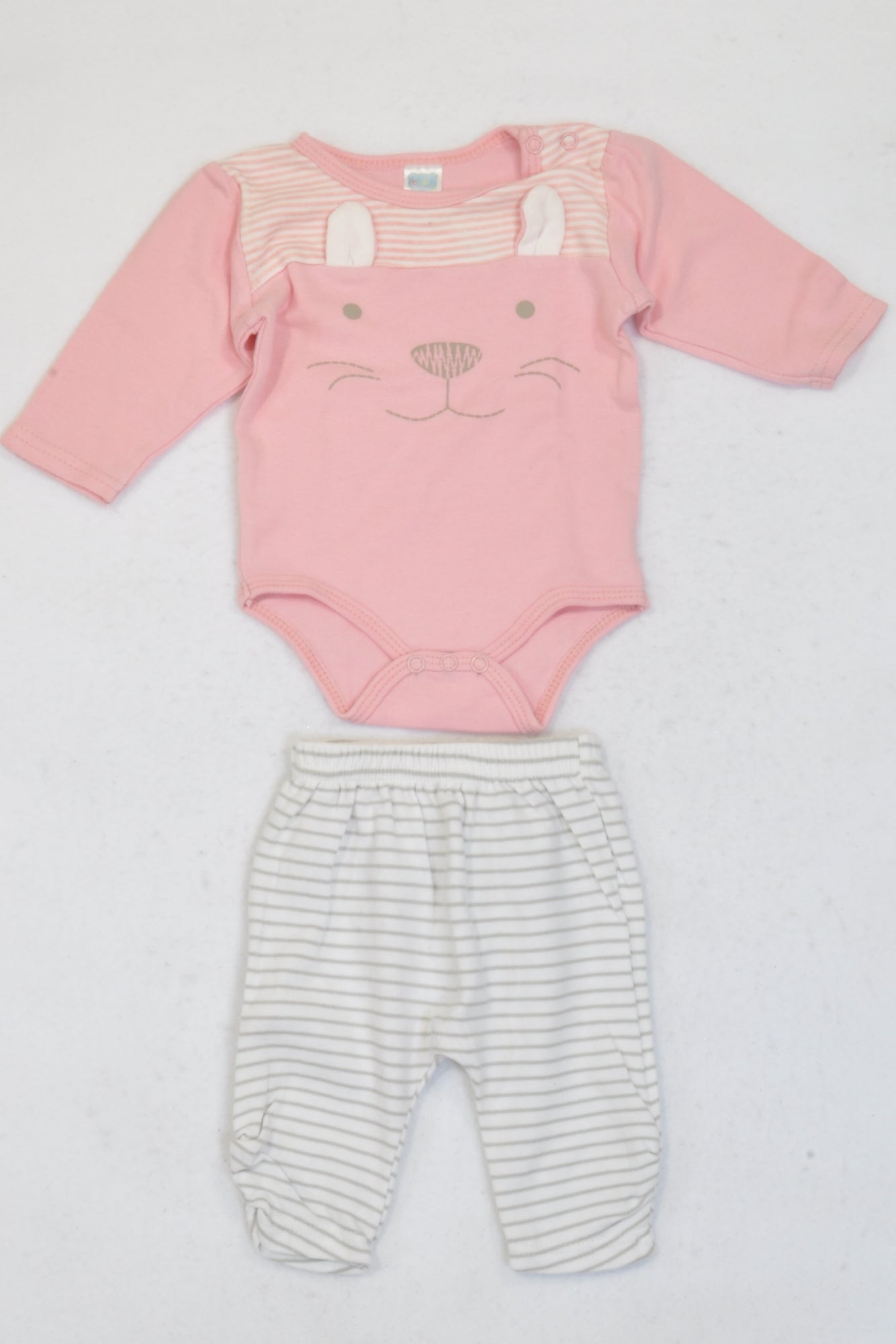 b41ac6e30 Ackermans Pink Kitty Baby Grow   Leggings Outfit Girls 0-3 months
