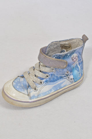 Blue Elsa High-top Shoes Girls 2-3 years