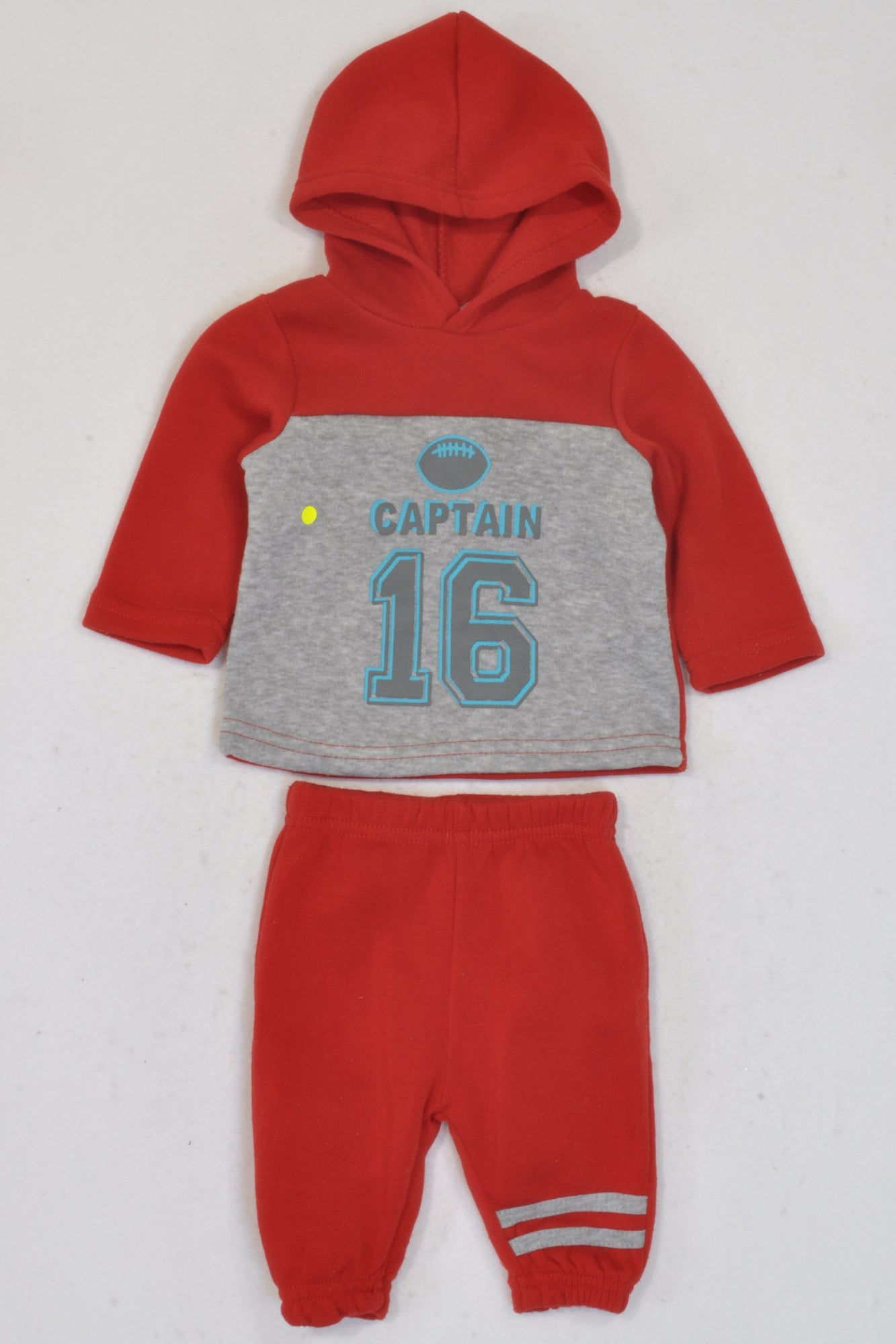 PEP Red & Grey Captain Track Suit Boys 0-3 months