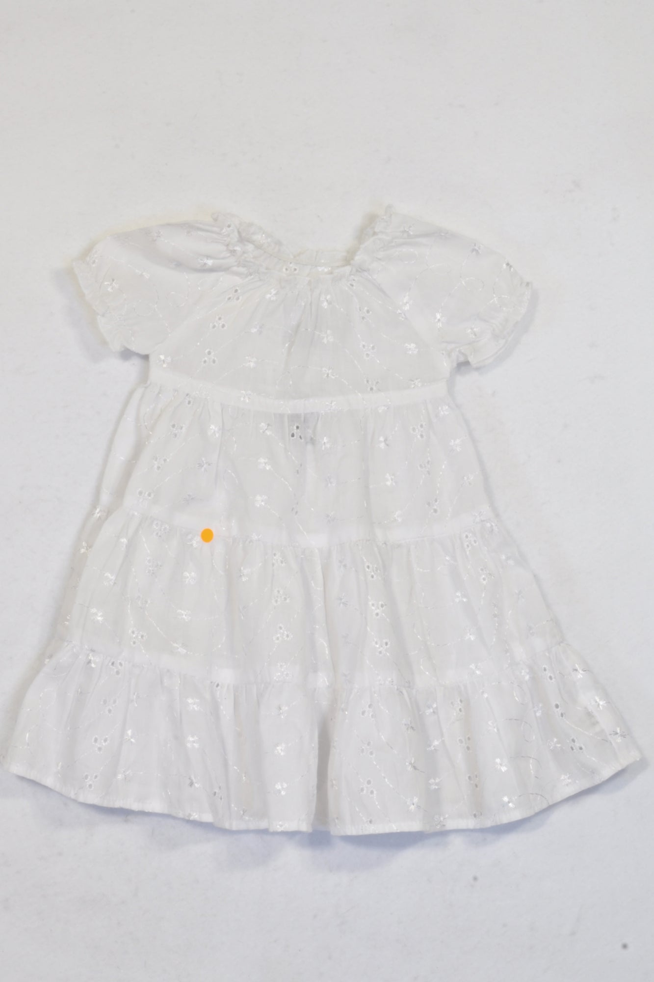 Keedo White Eyelet Dress Girls 0-3 months