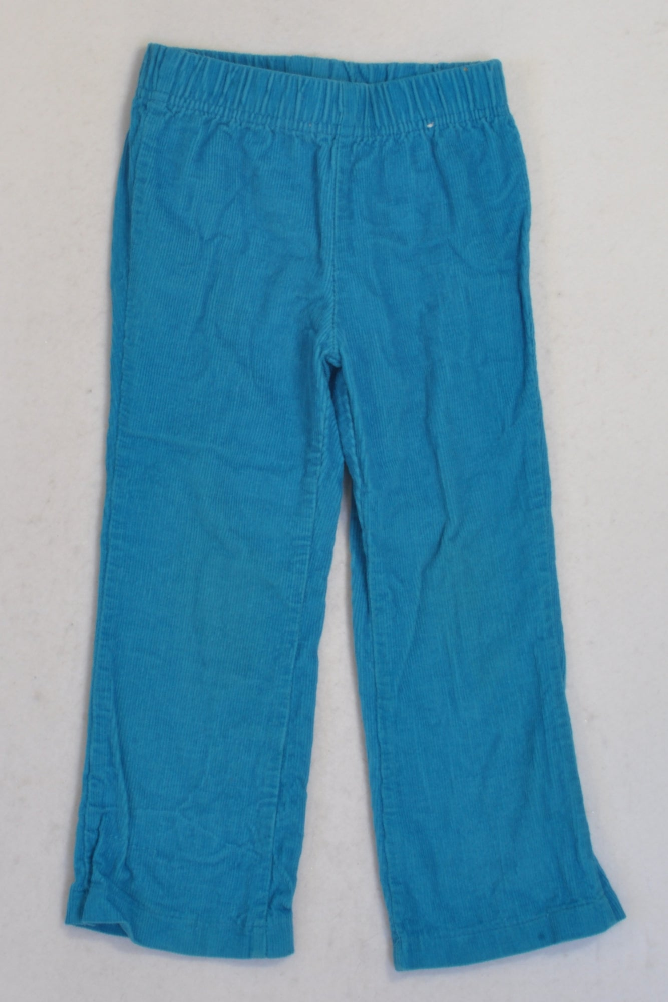 Qtee Bright Blue Corduroy  Pants Girls 2-3 years