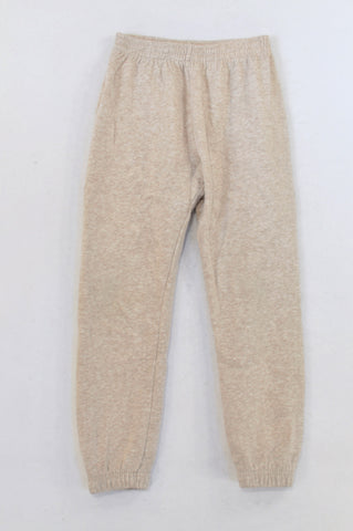 Woolworths Beige Heathered Track Pants Boys 7-8 years