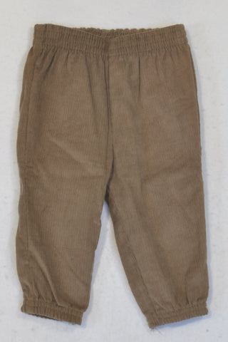 New Ackermans Brown Corduroy Cuffed Pants Boys 6-12 months