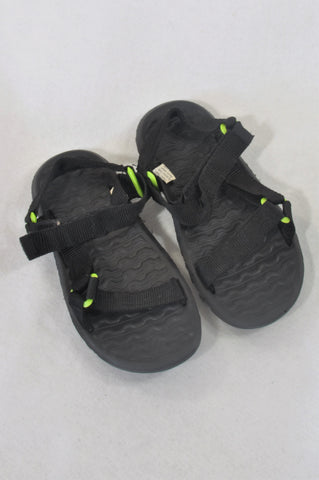Size Y1 Black Adventure Sandals Boys 7-8 years