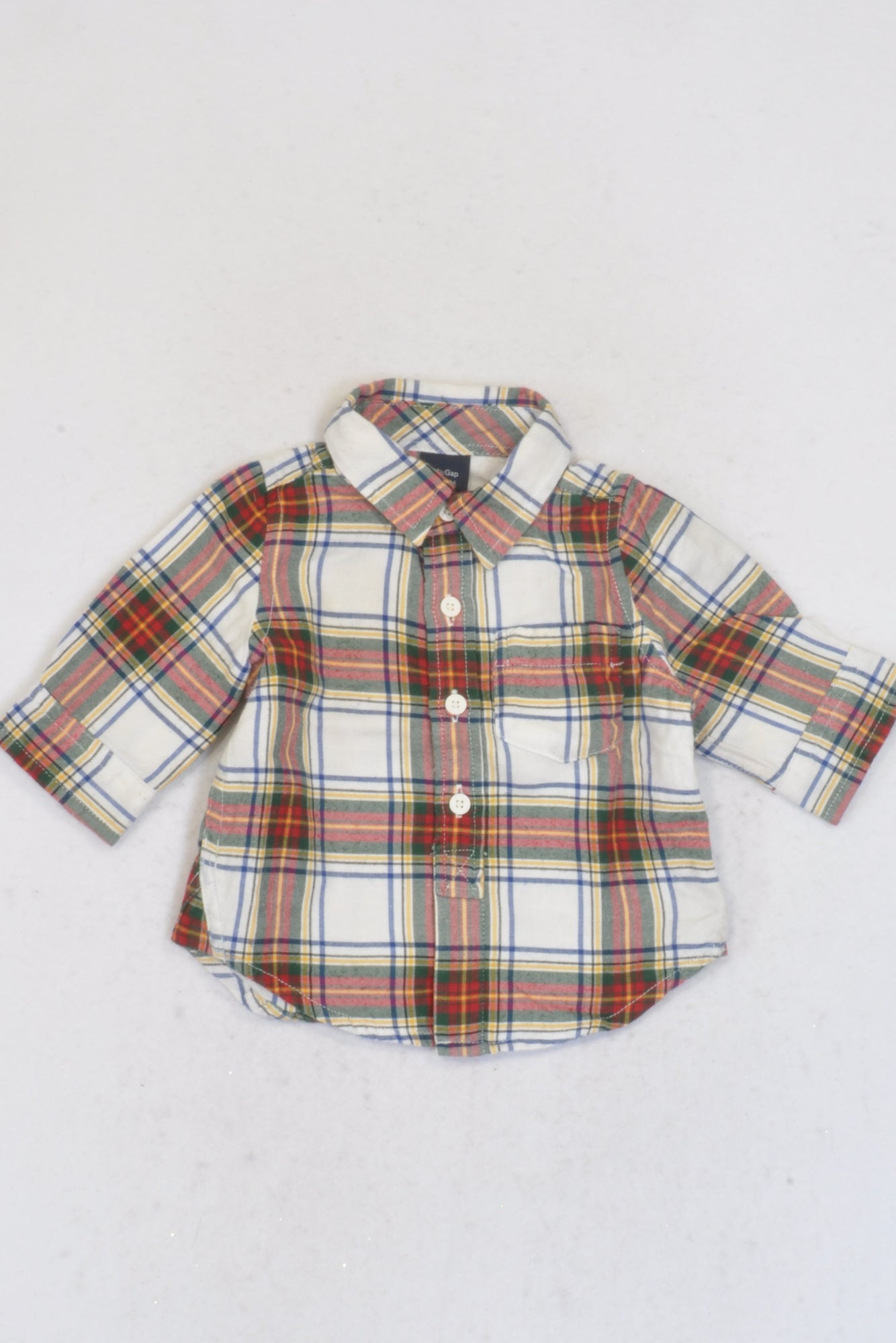 Gap Multi-Colored Plaid Shirt Boys 0-3 months