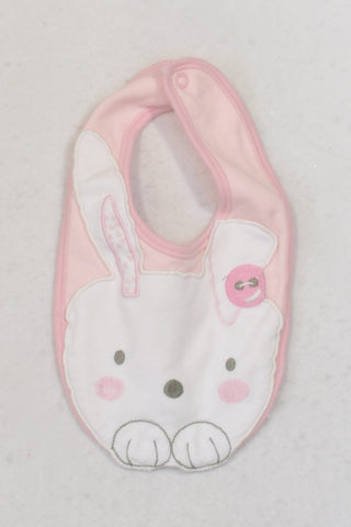 George Pink Bunny Bib Girls N-B to 1 year