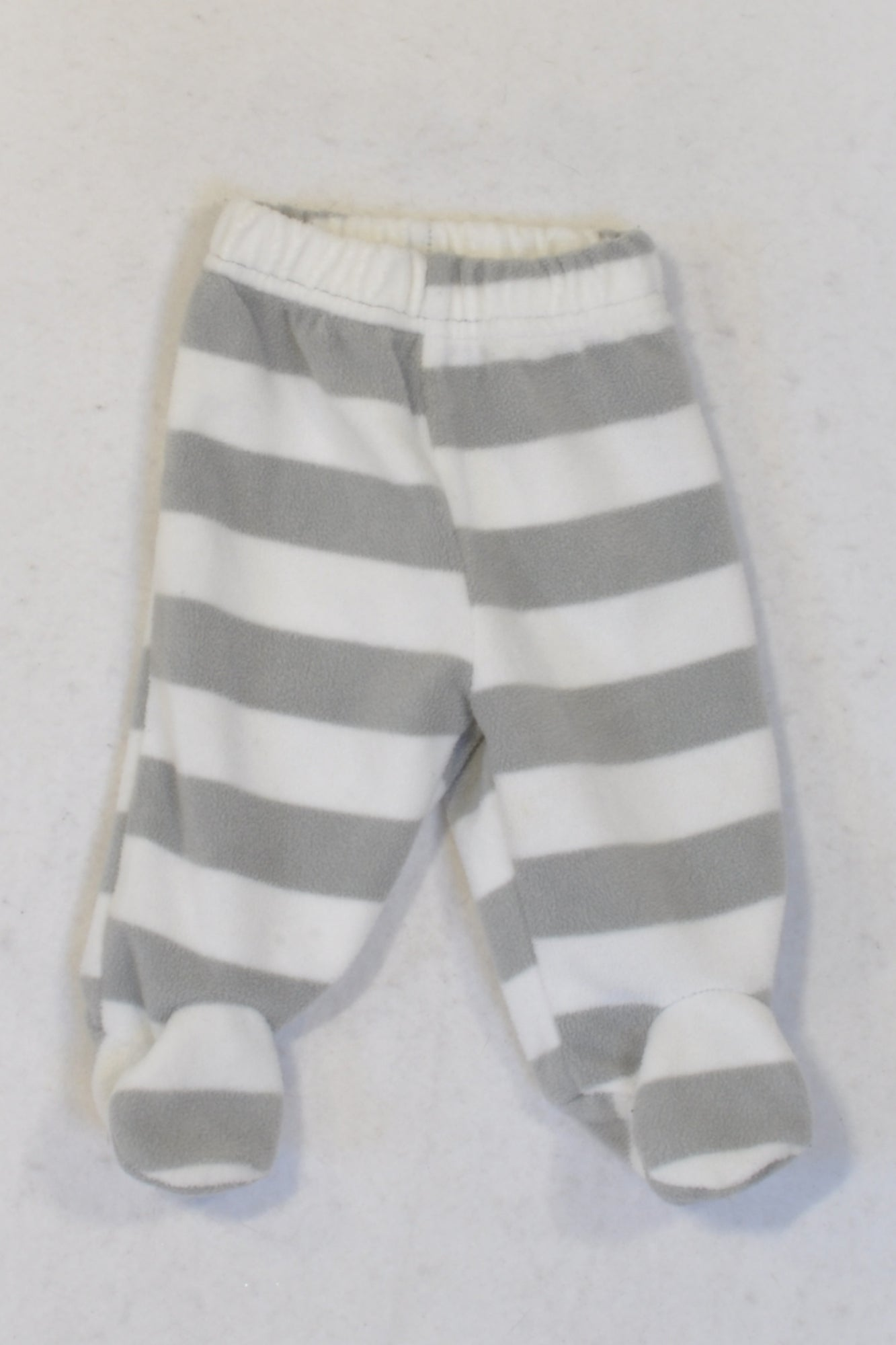 Ackermans Fleece Grey Stripe Footed Leggings Unisex N-B