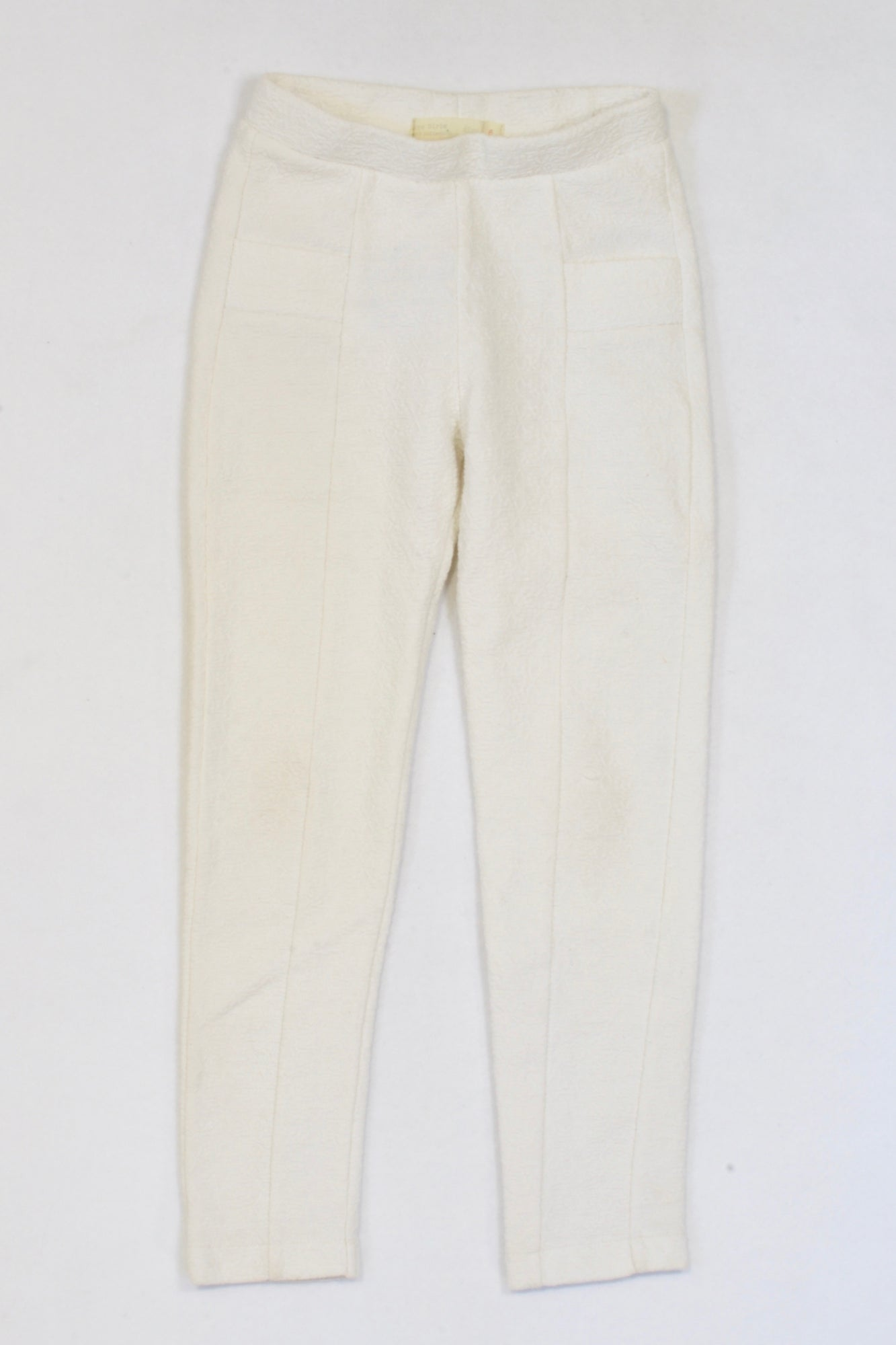 ace8dcee Zara 2 of 2 Off White Textured Jeggings Girls 5-6 years – Once More