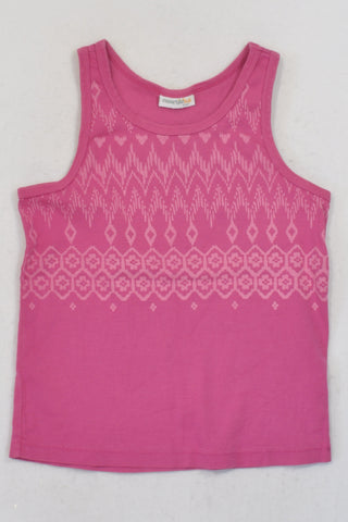 Naartjie Pink Diamond T-shirt Girls 7-8 years